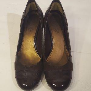 Franco Sarto brown heels